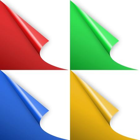 paper curl: Curvatura del papel colorido