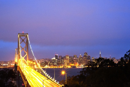 san francisco bay: Bay Bridge, San Francisco, USA Stock Photo