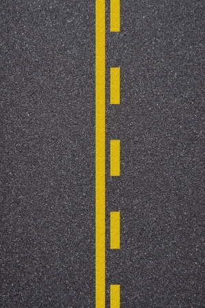 Asphalt road texture with yellow stripe Stock Photo - 13989886