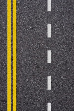 Asphalt road texture with yellow and white stripe Stock Photo - 13990541