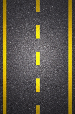 road surface: Asphalt road texture with yellow stripe