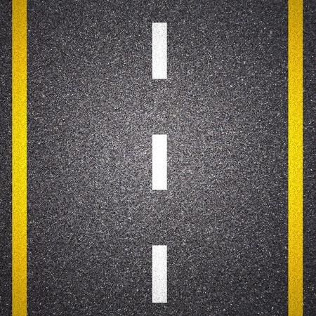 carretera: Asfalto textura de carretera con franja amarilla Foto de archivo