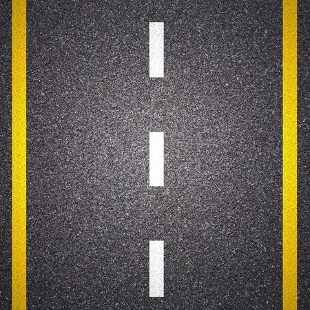 bumpy road: Asphalt road texture with yellow stripe
