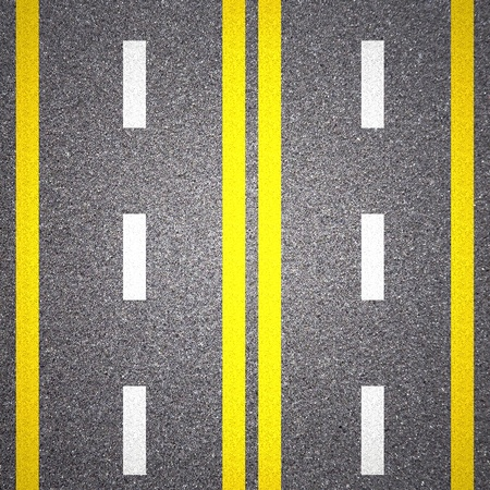 Asphalt road texture with yellow stripe Stock Photo - 13546331