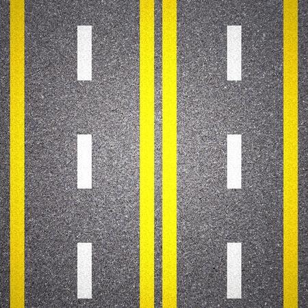 Asphalt road texture with yellow stripe Stock Photo - 13546331