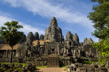 angkor wat: carving on the stone in Cambodia Editorial