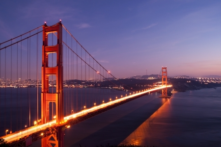 Golden Gate bridge at night photo
