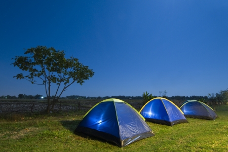 roughing: Camping tent at sunset