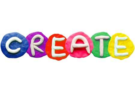 Alphabet letter using plasticine and clay  Forming word Create Stock Photo - 13546252