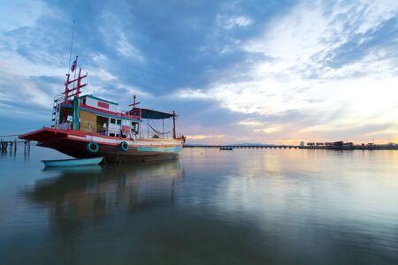 fishing ship: fishing boat on ocean