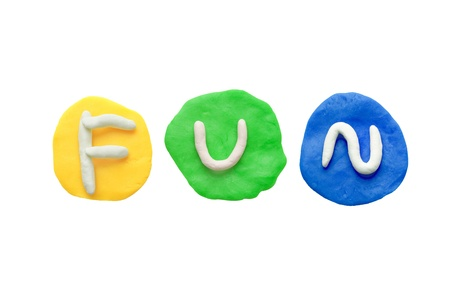 Alphabet letter using plasticine and clay  Forming word Fun Stock Photo - 13546240