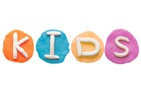 Alphabet letter using plasticine and clay  Forming word kids Stock Photo - 13546242