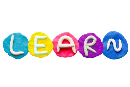Alphabet letter using plasticine and clay  Forming word Learn Stock Photo - 13546248
