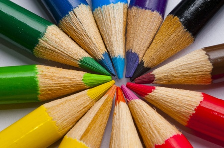 Coloring Pencil close up Stock Photo - 13546322
