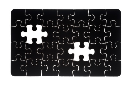 Missing jigsaw puzzle piece with light glow, business concept for completing the final puzzle piece Stock Photo - 13546263