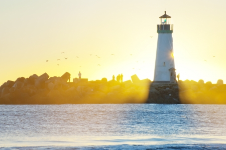 Sunlight and light house Stock Photo - 14257117