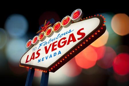estrella de la vida: Bienvenido a Las Vegas signo Foto de archivo