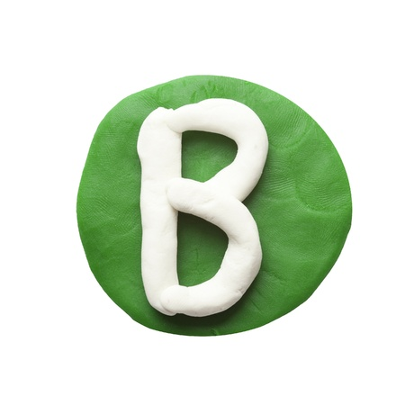 Alphabet letter using plasticine and clay  Letter B photo