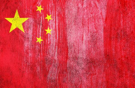 Grunge China Flag photo
