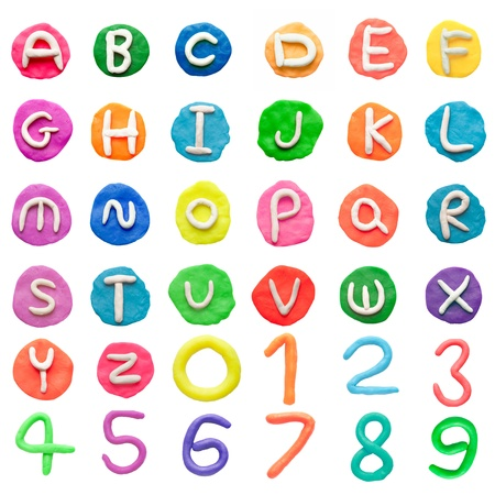 Alphabet letter from clay Stock Photo - 13973911