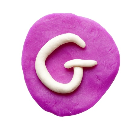 g alphabet: Alphabet letter using plasticine and clay  Letter G