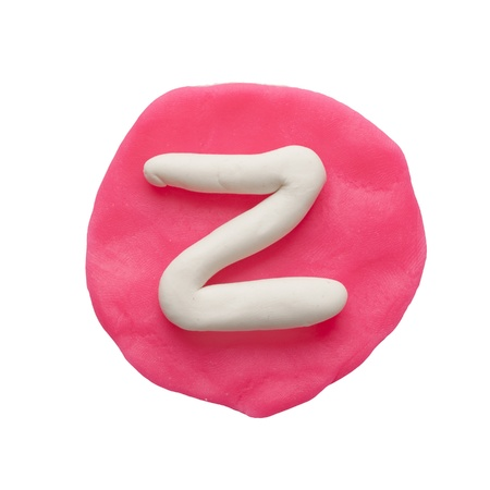 Alphabet letter using plasticine and clay  Letter Z Stock Photo - 13596636
