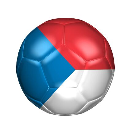 3D soccer balls with national flag  Country Czech Republic Stock Photo - 13692747