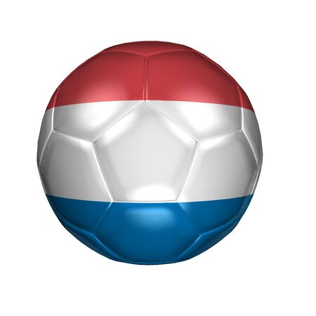 3D soccer balls with national flag  Country Netherlands photo