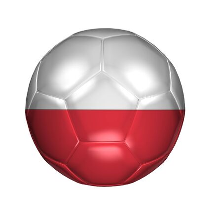 3D soccer balls with national flag  Country Poland Stock Photo - 13692733