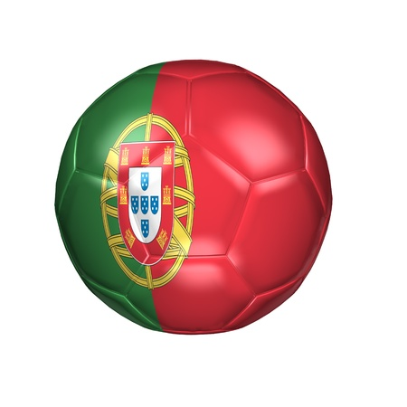 3D soccer balls with national flag  Country Portugal photo
