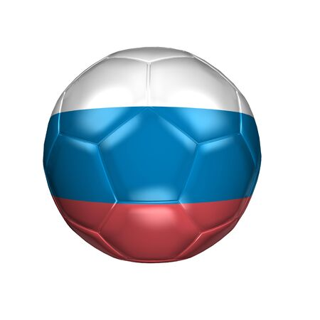 3D soccer balls with national flag  Country Russia photo