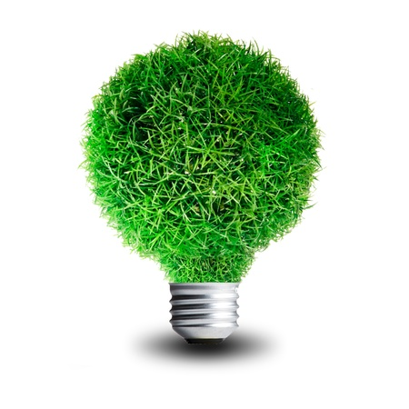 Green Grass growing on Light bulb  Concept for eco-friendly Stock Photo - 13733027