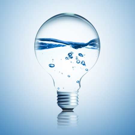 water energy: water side light bulb