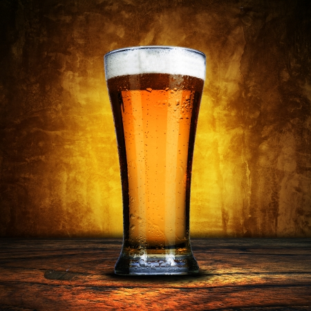 glass of beer: Glass of beer