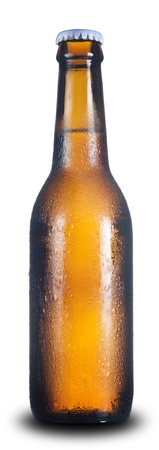 Beer Bottle isolated on white photo