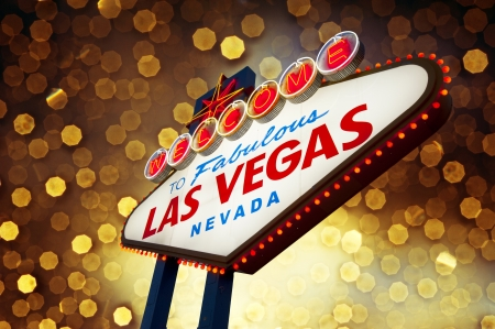 las vegas night: Welcome to Fabulous Las Vegas Sign