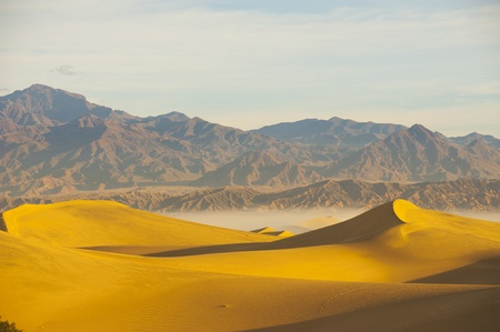 desert landscape with blue sky  Sand Dunes photo