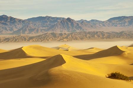 desert landscape with blue sky  Sand Dunes Stock Photo - 15589297