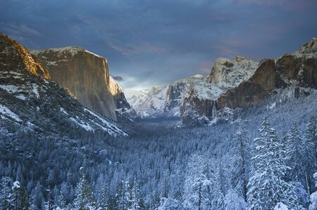 yosemite national park: Yosemite National park in winter time