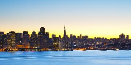 san: Panorama of San Francisco financial district