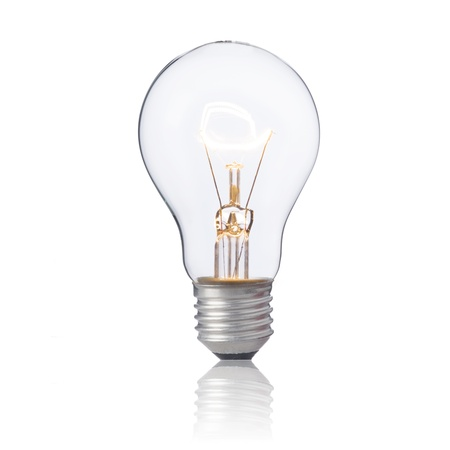 Light bulb with light on Stock Photo - 15842691