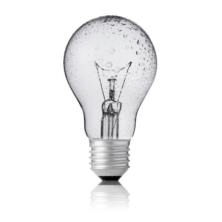 Light bulb with water drop Stock Photo - 15842694