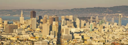 Panorama view of San Francisco Financial district photo