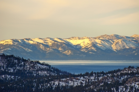 Snow on mountain at Lake Tahoe in Winter Stock Photo - 15939812