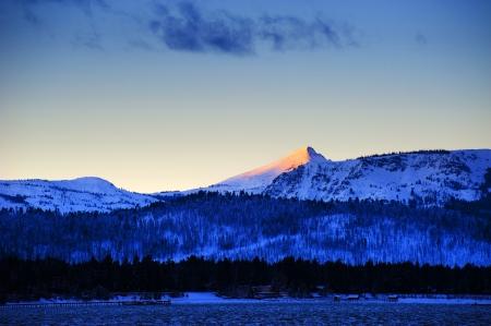 Snow on mountain at Lake Tahoe Stock Photo - 15939959