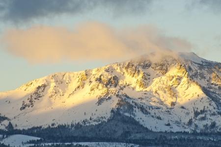 Snow on mountain at Lake Tahoe photo
