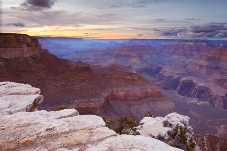 Grand Canyon at sunrise photo