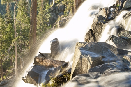 dream lake: Waterfall in Lake Tahoe, California, United States of America