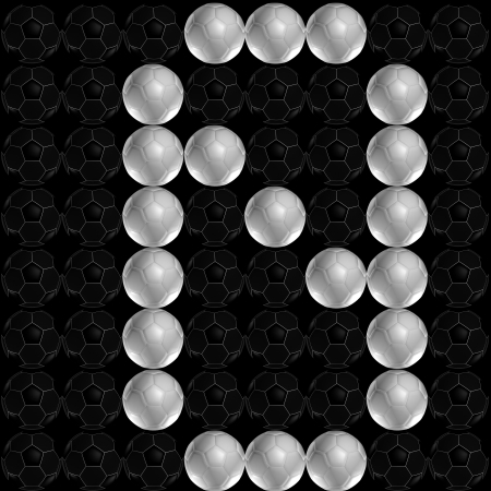 Scoreboard number made from soccer ball  football   Number 0 photo