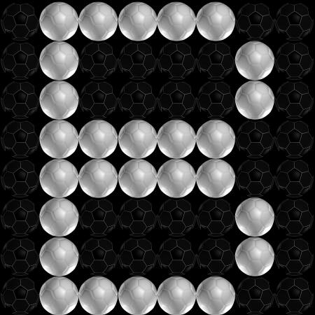 b ball: Alphabet letter made from soccer ball  football   Letter B Stock Photo